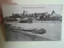 Vintage Postcard - WINDSOR CASTLE AND RIVER THAMES Franked & Stamped 1907