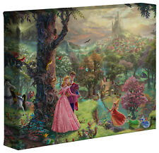 Thomas Kinkade Sleeping Beauty 8 x 10 Wrapped Canvas Disney