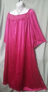 """Only Necessities Pink Nightgown LONG  Lightweight  3/4 Sleeve  Plus 3X  64"""" Bust"""