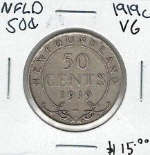 Canada Newfoundland NFLD 1919c 50 Cents VG