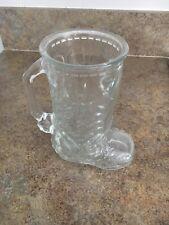 New ListingVintage Raised Design Glass Cowboy Boot Mug Glass Barware