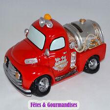 Pompier camion tirelire bapteme mariage communion anniversaire dragees