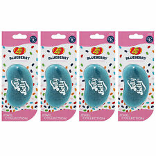 15360 Jelly Belly JEWEL BLUEBERRY 3D Bean Air Freshener Car (x4) Hanging Gel Typ