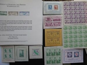 lot of James Farley Sheets & Bureau of Engraving & Printing Panel Cards
