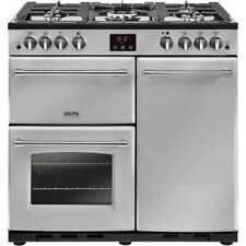 Belling Farmhouse90G 90cm 5 Burners Gas Range Cooker Silver New from AO
