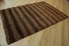Tapis poil long tendance-shaggy 606 marron rayé 120x170cm