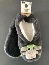 Star Wars Baby Yoda Damen Hausschuhe Plüsch Pantoffeln ABS Socken 36-38 39-42