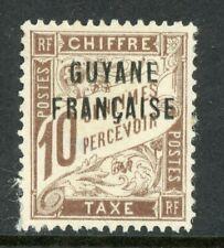 Guyane 1925 French Guiana 10¢ Due Scott #J2 Mint H539