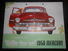 Prospekt Sales Brochure Ford Mercury 1950 Technische Daten models Sport Sedan