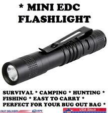 Flashlight EDC Super Small Mini AAA LED Lamp Belt Clip Survival