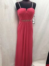 ADRIANNA PAPELL LONG GOWN/SIZE 16/NEW WITH TAG/RETAIL$189/CORAL/PROM DRESS
