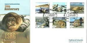 FALKLAND ISLANDS 2015 20TH ANNIV OF ELEPHANT SEALS RESEARCH FDC PORT STANLEY