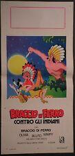 Locandina BRACCIO DI FERRO CONTRO GLI INDIANI 1978 OLIVIA BLUTO WIMPY COSENTINO