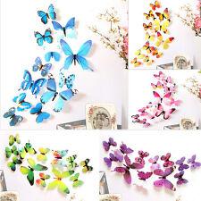 12pcs 3D PVC DIY Butterflies Butterfly Art Decal Home Decor Wall Mural Stickers