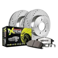 For Audi S4 00-02 1-Click Street Warrior Z26 Drilled & Slotted Rear Brake Kit