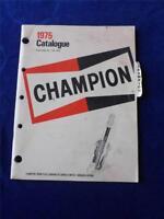 1975 CATALOG CHAMPION SPARK PLUG COMPANY CANADA WINDSOR ONTARIO CAR PARTS