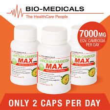 TGA LISTED 3 X 60 CAP PURE GARCINIA CAMBOGIA MAX! SUPER STRENGTH - 180 CAPS