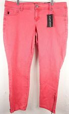 Torrid Womens Jeans Plus 18 Pink Stiletto Ankle Zip Skinny Stretch Pants NEW