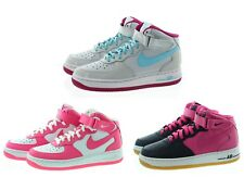 Nike 518218 Kids Youth Girls Air Force 1 Mid Top Basketball Shoe Sneakers