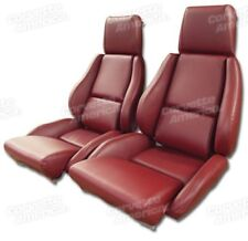 84-85 Corvette C4 MOUNTED Seat Upholstery Covers RED VINYL with FOAM SET NEW