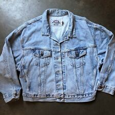 Women's Vintage 90's Levi's Light Blue Faded Denim Trucker Jean Jacket Sz L VTG