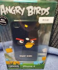 NEW IN BOX iPhone 4 4s ANGRY BIRDS CASE BLACK GEAR4 SLIM FIT FULL ACCESS
