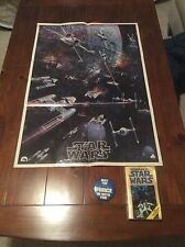 Star Wars Vintage Lot, 1977 Poster, Book & Button