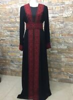 Abaya Thobe Thob Embroidered Palestinian Traditional Arabic Dress cardigan