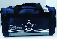 "Dallas Cowboys DUFFEL Bag Stripes Gym Training New 20"" x 11"" x 11"" NFL"
