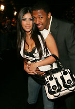 GLOSSY PHOTO PICTURE 8x10 Nick Cannon And Kim Kardashian Hugs For The Photo
