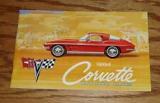 1964 Chevrolet Corvette Owners Operators Manual 64 Chevy