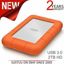 Lacie Rugged Mini 2TB USB 3.0 External Portable Hard Drive/ Disk|HDD|For PC/ Mac