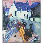 Lyonel Feininger Uprising HIQU Art Print on Canvas
