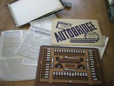 VINTAGE AUTOBRIDGE PLAYING CARD GAME