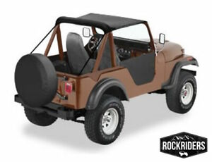 1976-1983 Jeep CJ5 Bikini Bimini Top Black Crush 90601