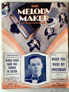 BRITISH DANCE BANDS - MELODY MAKER MAGAZINE, APRIL 1931, BERT READ ETC!