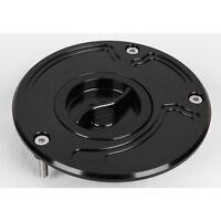 Black Keyless CNC Fuel Gas Cap For Kawasaki ZX6R ZX636 ZX9R ZX10R 2003-2009 2004