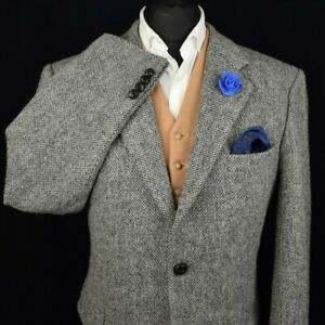 Harris Tweed Tailored Country Checked Blazer Jacket 44R #933 SUPERB COLOUR