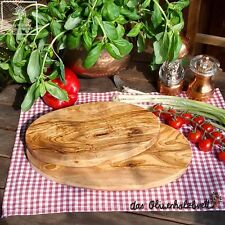 2 x Olive Wood Breakfast Board Chopping Oval 25+11 13/16in
