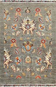 Floral Oriental Zeigler Area Rug Wool Hand-knotted Contemporary Foyer Carpet 3x4