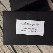 Rose Gold Silver Foil Personalized Wedding Gift Labels Favor Thank You Stickers