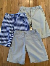 Lot Of 3 Chaps Old Navy Tommy Hilfiger Boys Size 10 Casual Chino Khaki Shorts