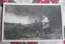 CPA tableau Salon peinture 1906 Weber Derniers rayons religieux campagne