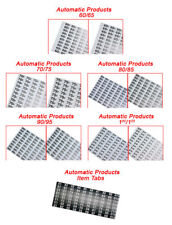 New Price & Selection Tab Sheets for AP Automatic Products vending machines