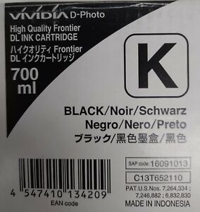 GENUINE C13T652110 Fuji Black Ink (700ml) SEALED EXP 12-27-2019