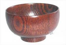 New listing Wooden Rice Miso Soup Bowl S-1653 Au