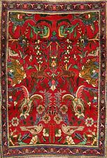 Floral Animal Design Traditional Oriental Area Rug Wool Hand-Knotted Carpet 3x5