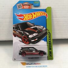 '90 Honda Civic EF #197 * Black * 2015 Hot Wheels * K19