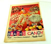 "Brach's Candy Candyland Circus Clown Peppermint Snacks Print Ad 13.5""x10"" AK"