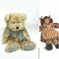 "Boyds Bear 25th Anniversary Edition 16"" Smith Witter Jr. NWT Bonus 5"" Ragedy Ann"